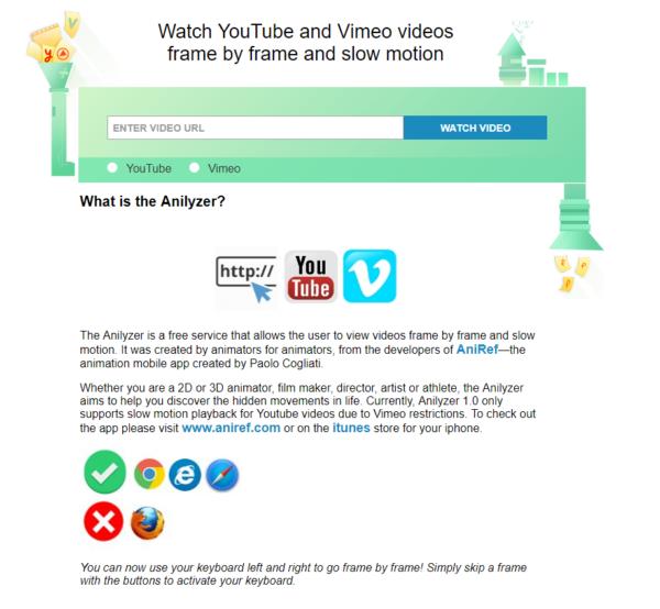 Videos frame by frame schauen bei YouTube oder Vimeo