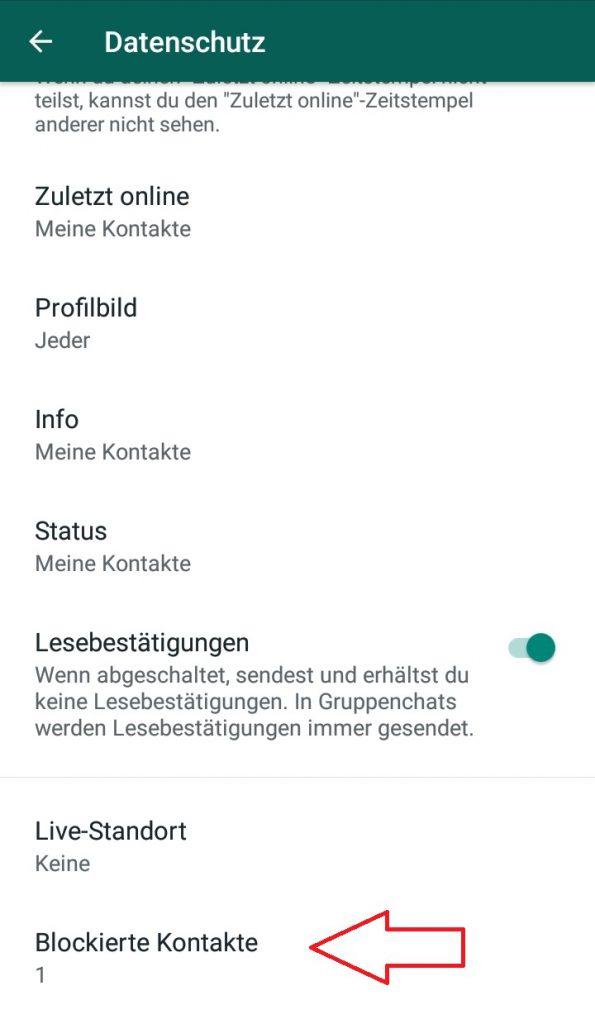 Whatsapp Blockierte Kontakte Status Whatsapp Neue
