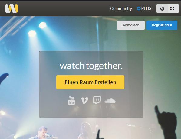 Videos zusammen anschauen von YouTube, Twitch, Vimeo, Facebook, Soundcloud u.v.m.